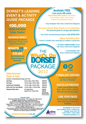 What's On In Dorset Rate Card 2017